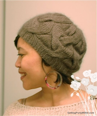 16 Sixteen Cable Hat Getting Purly With It